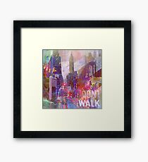 Snowstorm on the city Framed Print