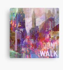 Snowstorm on the city Canvas Print