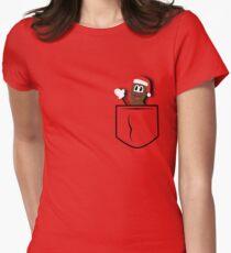 Mr.Hankey Pocket Womens Fitted T-Shirt
