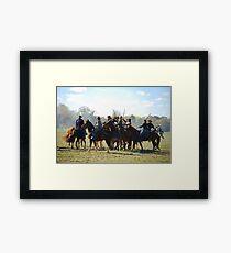 Fighting it Out On Horseback 2 Framed Print
