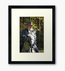 General Lee and His Horse Framed Print