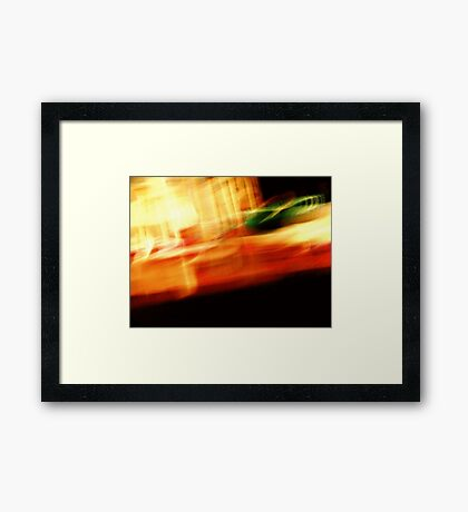 The Crap On My Coffee Table: Fun With Shutter Speed Framed Print