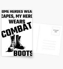 Some Heroes Wear Capes, My Hero Wears Combat Boots Postcards