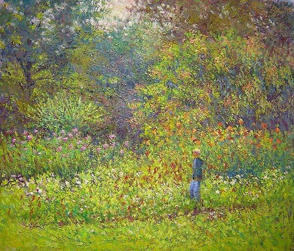 Alex in the garden by Julia Lesnichy