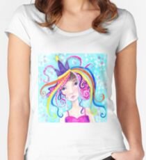 Whimiscal Party Girl Women's Fitted Scoop T-Shirt