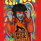 HotBox Pizza Jimi Hendrix t-shirt by HotBoxPizza