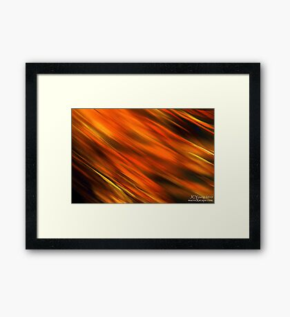 Flow of Gold Framed Print