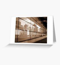 Reflections - Brisbane City Greeting Card
