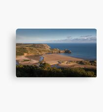 Three Cliffs Bay Gower Canvas Print