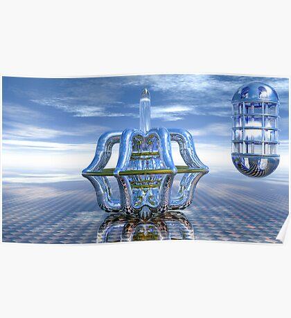 Light Bender - Metaball Sculpture Poster