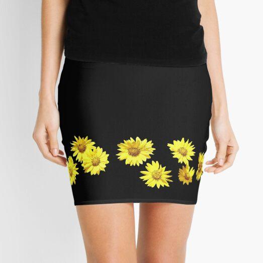 Yellow Wildflower Mini Skirt