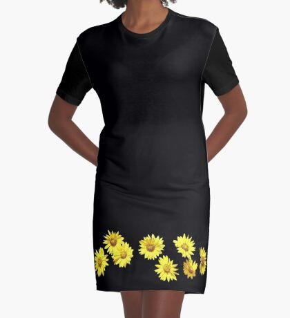 Yellow Wildflower Graphic T-Shirt Dress