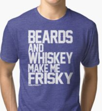 Beards and Whiskey Tri-blend T-Shirt