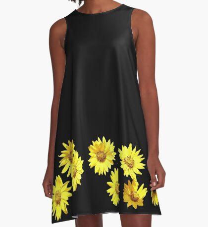 Yellow Wildflower A-Line Dress