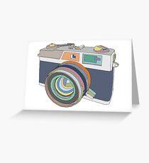 Vintage old photo camera Greeting Card
