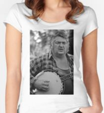 Banjo-man - aka MarkyB Women's Fitted Scoop T-Shirt