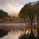 Loch Lubnaig Autumn Colours... by David Mould