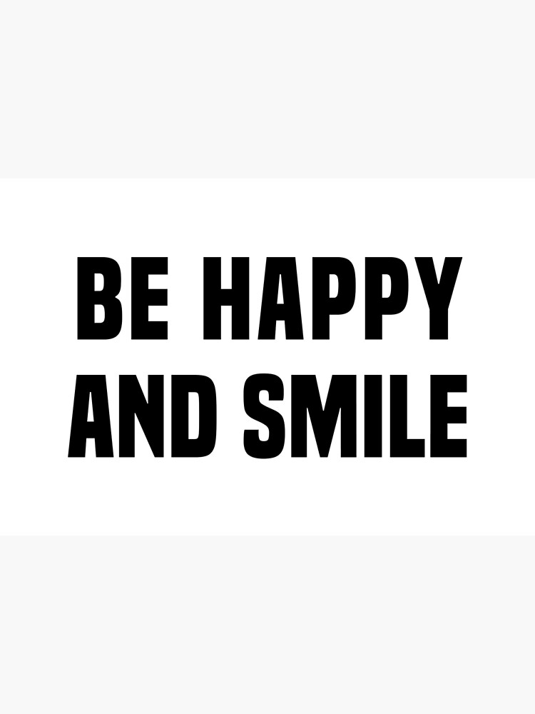 Be happy and smile by fourretout