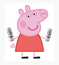 Peppa Pig + White Claw Photographic Print