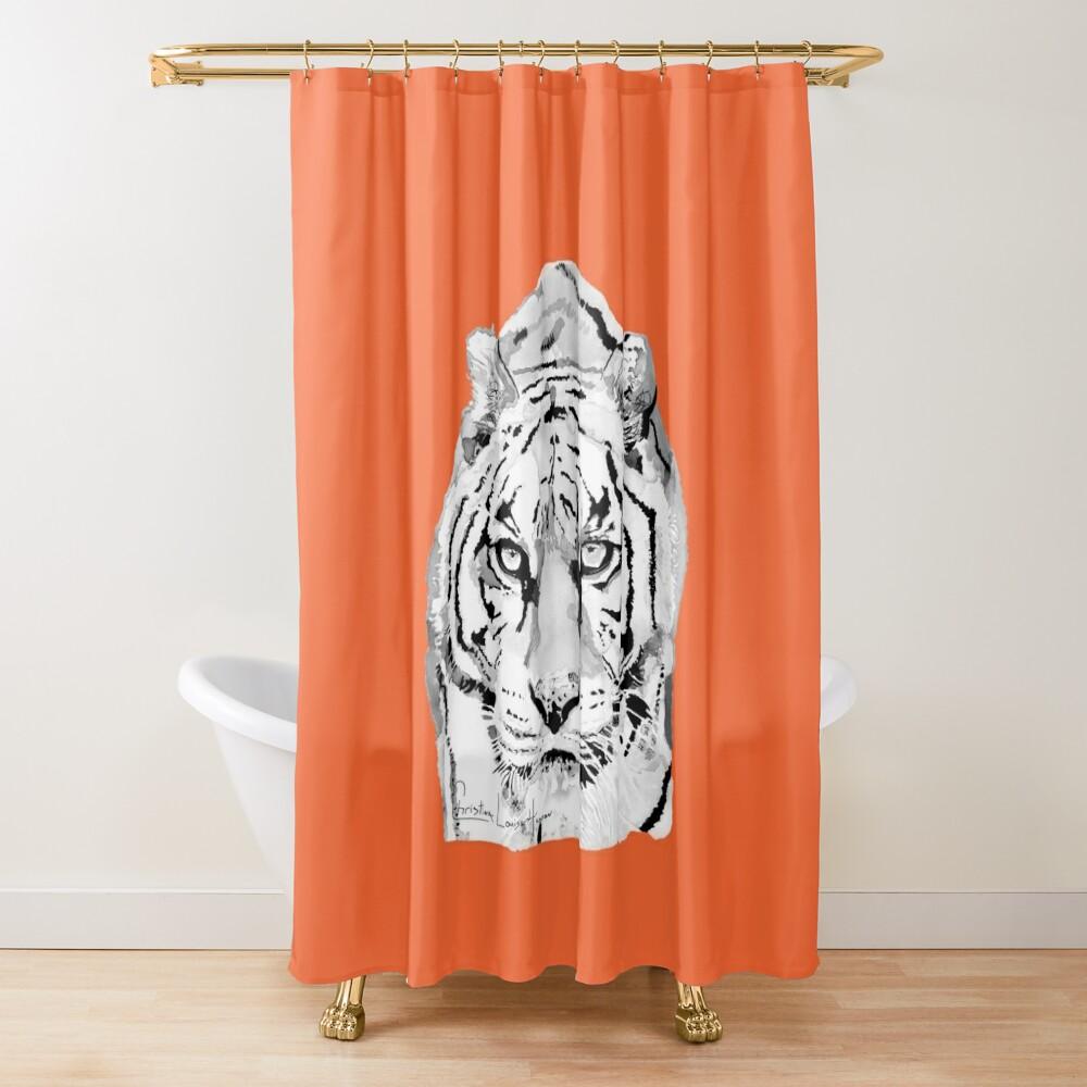Tiger Orange Shower Curtain