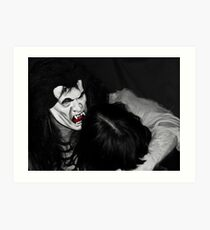 The Vampire Takes His Prize Art Print