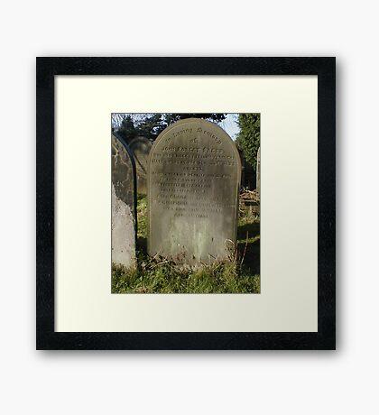 Tragic Ending Framed Print
