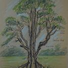Tree in Pastel by Geraldine M Leahy
