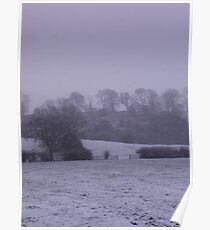Winters landscape Poster