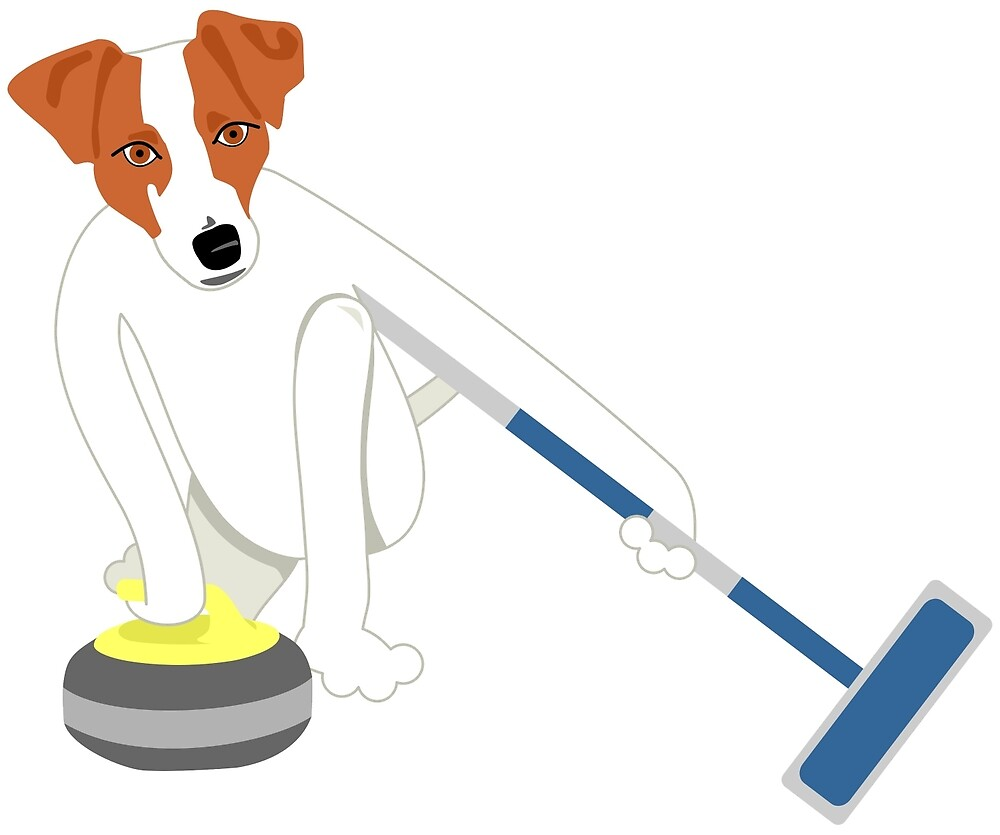 Jack Russell Terrier Curling by pounddesigns