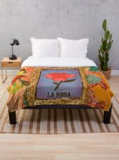 Mexican Bingo La Rosa  Throw Blanket