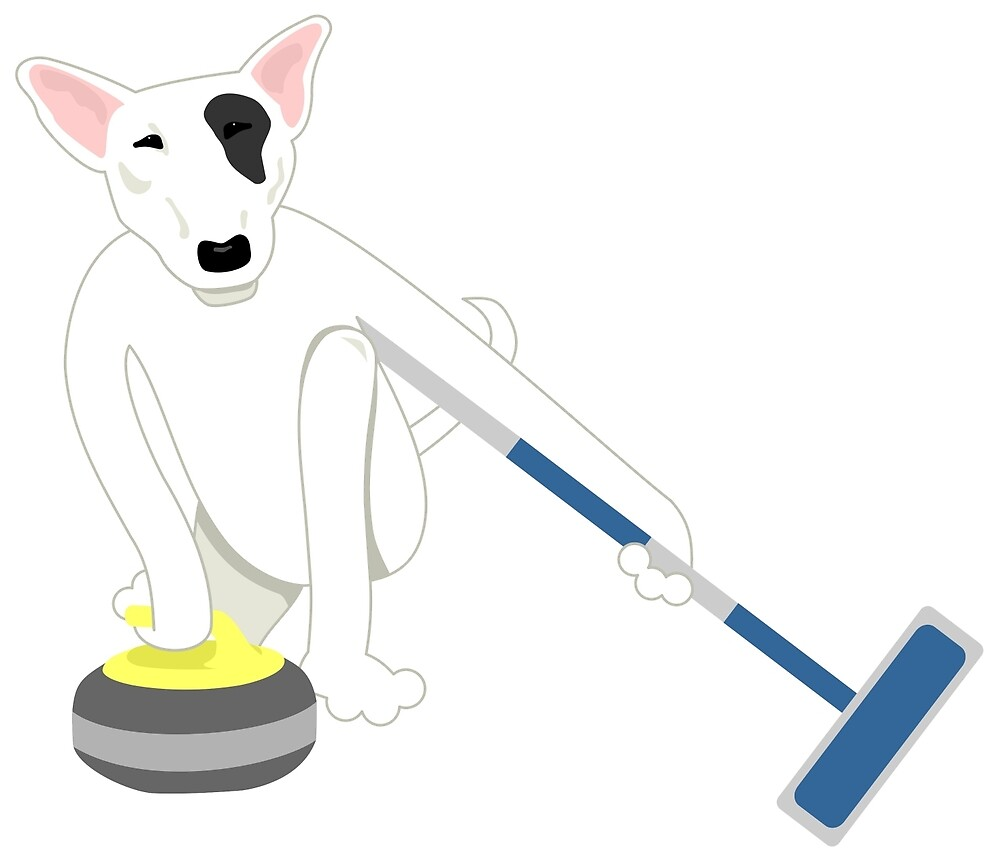 English Bull Terrier Curling by pounddesigns