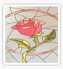 Stained Glass Window Rose Sticker