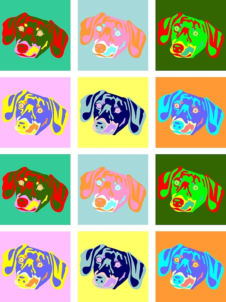 Dachshund Pop Art by pounddesigns