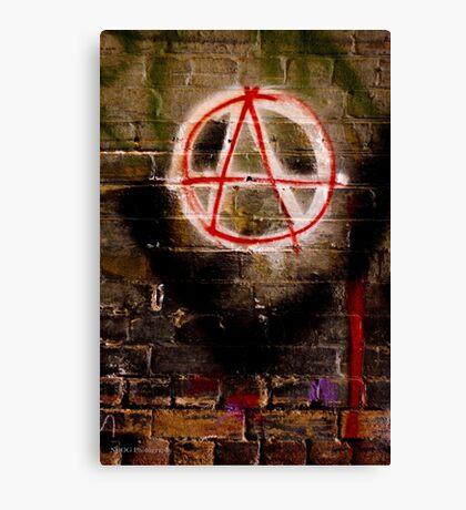 Anarchy Graffiti - Brisbane CBD Canvas Print