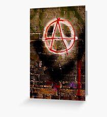 Anarchy Graffiti - Brisbane CBD Greeting Card