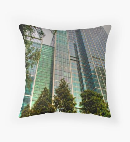 Canary Wharf SkyScrapers: London, UK. Throw Pillow