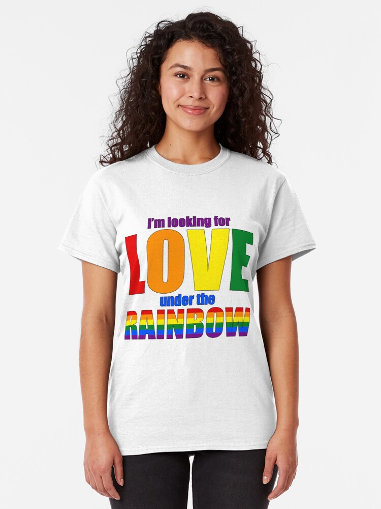 Alternate view of Love under Rainbow - Be Pride! Classic T-Shirt