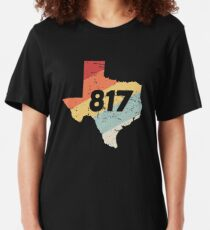 Fort Worth Texas - 817 Area Code Slim Fit T-Shirt