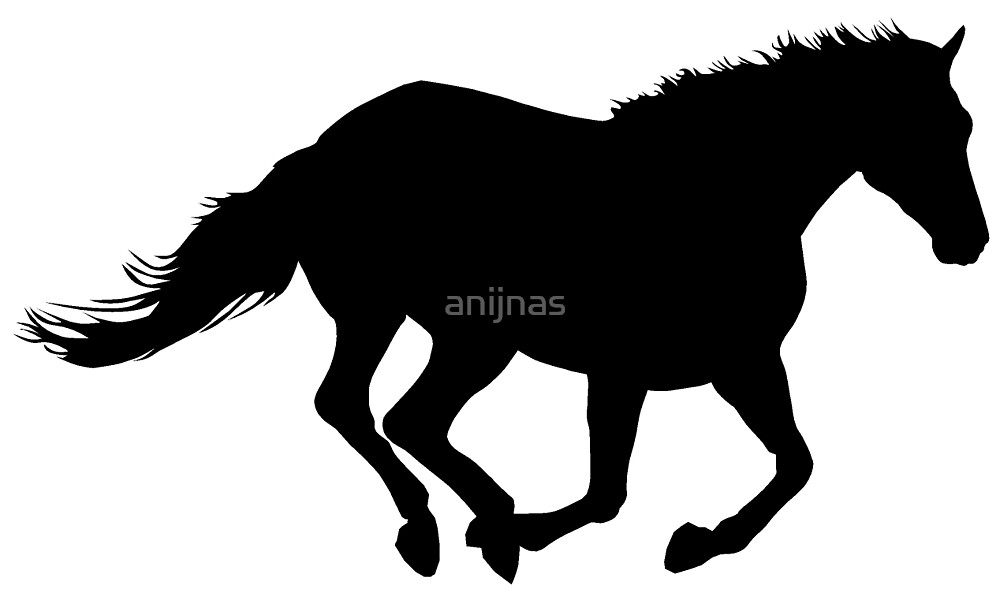 """Running Horse Black Silhouette Black Horsie Powerful ..."