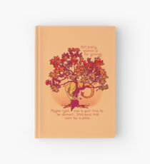 """Not Every Season is For Growing"" Fall Dragon Forest Spirit Hardcover Journal"