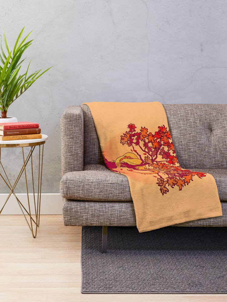 "Alternate view of ""Not Every Season is For Growing"" Fall Dragon Forest Spirit Throw Blanket"