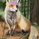 Forest Fox w/Flower Crown by lillijy97