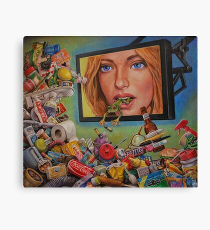 Talking Trash Canvas Print