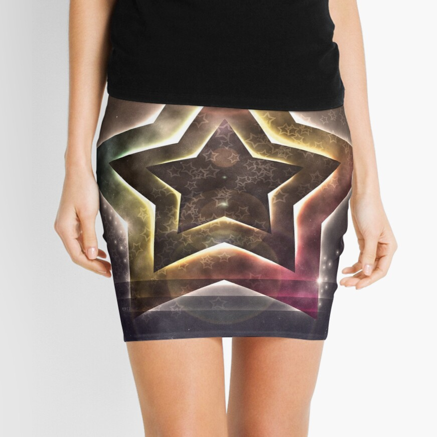 Star Lights Mini Skirt Front