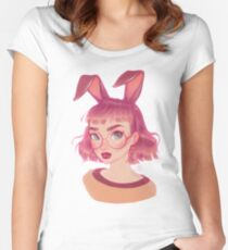 bunny Fitted Scoop T-Shirt