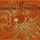 Seasons Greetings - Greeting Card by Lynda K Cole-Smith