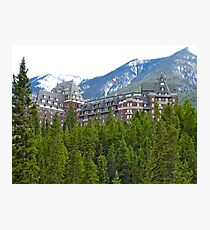 Banaff Fairmont Hotel, Canada Photographic Print