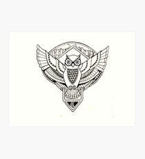Owl Emblem Art Print