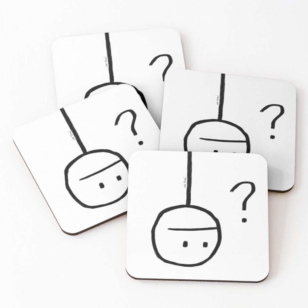 Huh? Coasters (Set of 4)