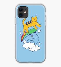 Cat Flying On A Skateboard iPhone Case